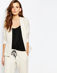 Sisley Tailored Jacket In Cream Cream
