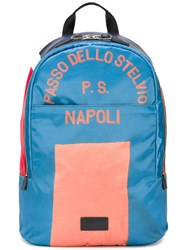 Paul Smith Block Colour Backpack Blue