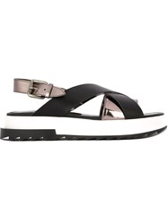 Diesel 'D Alls' Low Sandals Black