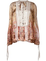 Etro Peasant Blouse Multicolour