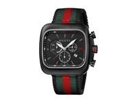 Gucci Coupe 44Mm Chronograph Nylon Strap Watch Ya131202 Black Green Red Watches