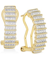 Victoria Townsend Rose Cut Diamond Hoop Earrings 1 2 Ct. T.W. In 18K Gold Over Sterling Silver