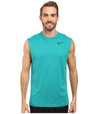 Nike Dri Fit Training Muscle Tank Top Green Abyss Rio Teal Black Men's Sleeveless