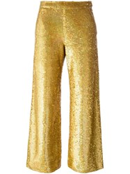 Ashish Sequin Trousers Metallic