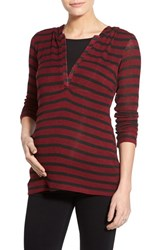 Women's Lab40 'Zoe' Stripe Maternity Nursing Hoodie