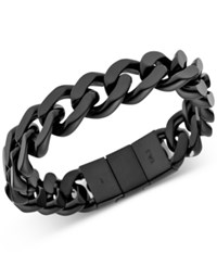 Emporio Armani Men's Black Plated Stainless Steel Bracelet Egs2068