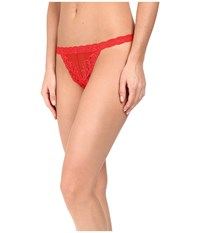 Natori Feathers Thong Real Red Women's Underwear