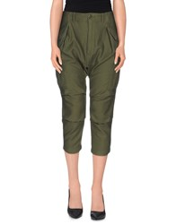 Nlst Trousers 3 4 Length Trousers Women Military Green
