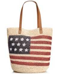 Styleandco. Style And Co. Flag Straw Tote Only At Macy's Luggage