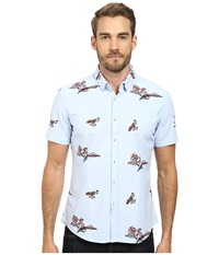 7 Diamonds Diamond Head Top Light Blue Men's Short Sleeve Button Up
