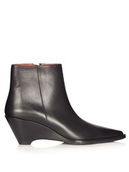 Acne Studios Cony Leather Ankle Boots Black