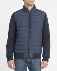 Tommy Hilfiger Blue College Dual Fabric Down Jacket