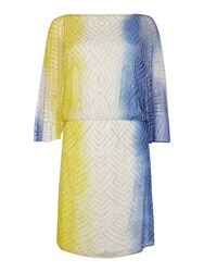 Biba Beaded Dip Dye Dress Multi Coloured
