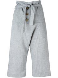 Vivienne Westwood Anglomania Tie Waist Cropped Trousers Grey