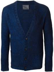 Laneus Low Neckline Cardigan Blue