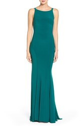 Mac Duggal Women's High Neck Mermaid Gown