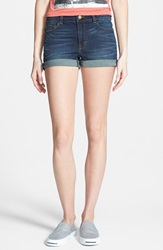 Bp High Rise Denim Shorts Dusk Blue