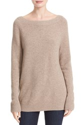 Equipment Women's 'Cody' Wool And Cashmere Boatneck Sweater Heather Brown