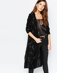 Selected Melody Embellished Wrap Jacket Black