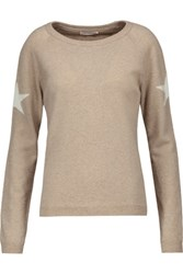 Chinti And Parker Intarsia Knit Merino Wool Cashmere Blend Sweater Beige