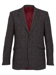 Raging Bull Rb Herringbone Blazer Grey
