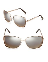 Sam Edelman 60Mm Rectangle Sunglasses Gold