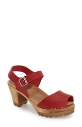 Women's Mia 'Greta' Sandal Red Leather