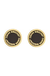 Marc Jacobs Logo Disc Earrings Gold