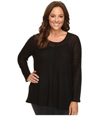 Lysse Plus Size Sonnet Long Sleeve Black Women's Clothing