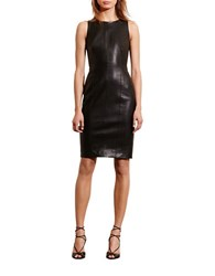 Lauren Ralph Lauren Petite Petite Faux Leather Sheath Dress Black
