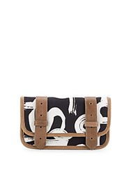 Proenza Schouler Ps1 Canvas And Leather Wallet Black Multi