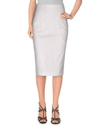 Moschino Skirts Knee Length Skirts Women White