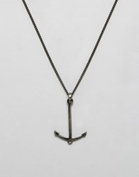 Simon Carter Antiqued Anchor Pendant Necklace Exclusive To Asos Silver