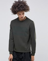 Systvm Comb Sweater In Khaki Green
