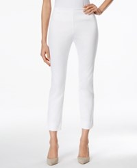 Charter Club Tummy Control Side Zip Ankle Pants Only At Macy's Bright White