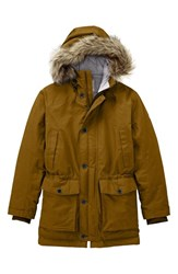 Men's Timberland 'Scar Ridge' Hyvent Waterproof Hooded Down Parka With Faux Fur Trim