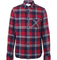 Aztech Mountain Lodge Peak Checked Cotton Flannel Hirt Red