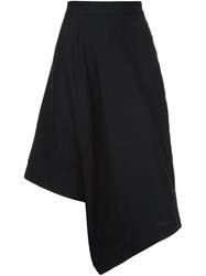 Y 3 Asymmetric Cropped Trousers Black
