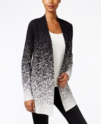 Charter Club Ombre Open Front Cardigan Only At Macy's Deep Black Combo