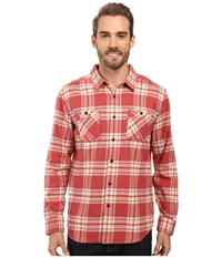Quiksilver Worthy Vessel Tailored Long Sleeve Woven Rosewood Men's Clothing