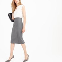 J.Crew Petite Director Pencil Skirt In Super 120S Wool