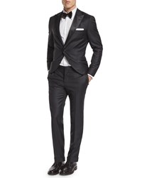 Brunello Cucinelli Peak Lapel Wool Tuxedo Black Women's