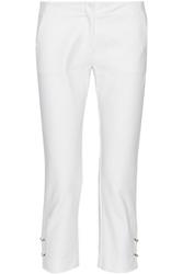 Versus Mid Rise Stretch Knit Slim Leg Pants White