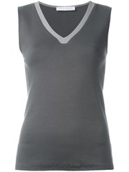 Fabiana Filippi V Neck Vest Grey