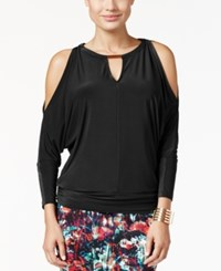 Thalia Sodi Cold Shoulder Top Only At Macy's Deep Black