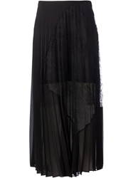 Sharon Wauchob Long Lace Detail Pleated Skirt Black