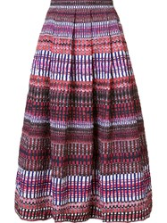 Saloni Tonal Pattern Full Skirt Blue