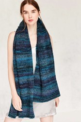Urban Outfitters Ombre Boucle Scarf Blue