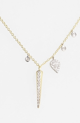 Meirat 'Charmed' Diamond Spike Pendant Necklace Yellow Gold