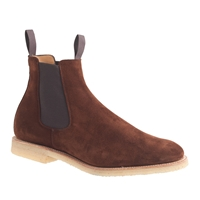 Alfred Sargenttm For J.Crew Suede Chelsea Boots Rich Brown Suede